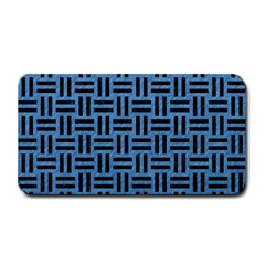 Woven1 Black Marble & Blue Colored Pencil (r) Medium Bar Mat by trendistuff