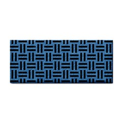 Woven1 Black Marble & Blue Colored Pencil (r) Hand Towel by trendistuff