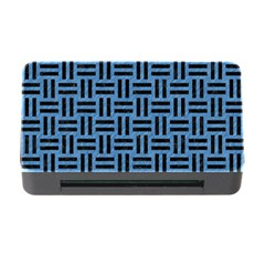 Woven1 Black Marble & Blue Colored Pencil (r) Memory Card Reader With Cf by trendistuff