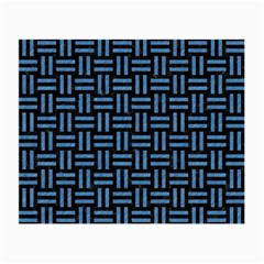 Woven1 Black Marble & Blue Colored Pencil Small Glasses Cloth (2 Sides) by trendistuff