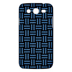 Woven1 Black Marble & Blue Colored Pencil Samsung Galaxy Mega 5 8 I9152 Hardshell Case  by trendistuff