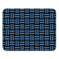 Woven1 Black Marble & Blue Colored Pencil Double Sided Flano Blanket (large) by trendistuff