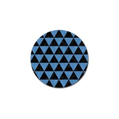 Triangle3 Black Marble & Blue Colored Pencil Golf Ball Marker (10 Pack) by trendistuff