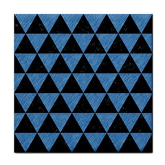 Triangle3 Black Marble & Blue Colored Pencil Face Towel by trendistuff