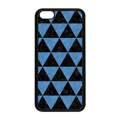 Triangle3 Black Marble & Blue Colored Pencil Apple Iphone 5c Seamless Case (black) by trendistuff