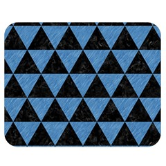 Triangle3 Black Marble & Blue Colored Pencil Double Sided Flano Blanket (medium) by trendistuff