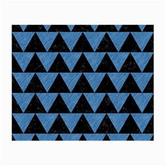 Triangle2 Black Marble & Blue Colored Pencil Small Glasses Cloth (2 Sides) by trendistuff