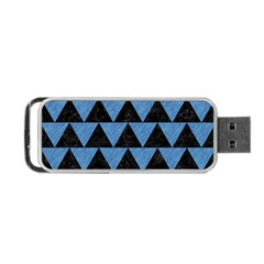 Triangle2 Black Marble & Blue Colored Pencil Portable Usb Flash (two Sides) by trendistuff