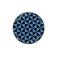 Triangle1 Black Marble & Blue Colored Pencil Hat Clip Ball Marker by trendistuff