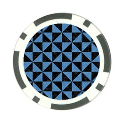 Triangle1 Black Marble & Blue Colored Pencil Poker Chip Card Guard (10 Pack) by trendistuff