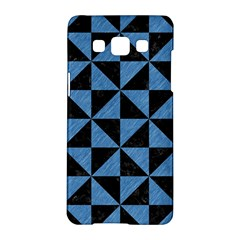 Triangle1 Black Marble & Blue Colored Pencil Samsung Galaxy A5 Hardshell Case  by trendistuff