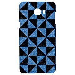 Triangle1 Black Marble & Blue Colored Pencil Samsung C9 Pro Hardshell Case  by trendistuff