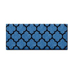 Tile1 Black Marble & Blue Colored Pencil (r) Hand Towel by trendistuff