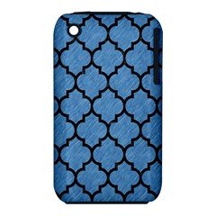 Tile1 Black Marble & Blue Colored Pencil (r) Apple Iphone 3g/3gs Hardshell Case (pc+silicone) by trendistuff