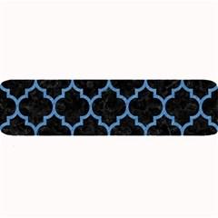 Tile1 Black Marble & Blue Colored Pencil Large Bar Mat by trendistuff
