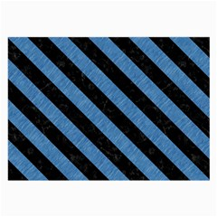 Stripes3 Black Marble & Blue Colored Pencil (r) Large Glasses Cloth by trendistuff