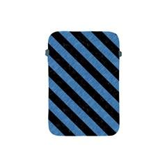 Stripes3 Black Marble & Blue Colored Pencil (r) Apple Ipad Mini Protective Soft Case by trendistuff