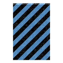 Stripes3 Black Marble & Blue Colored Pencil Shower Curtain 48  X 72  (small) by trendistuff