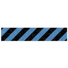 Stripes3 Black Marble & Blue Colored Pencil Flano Scarf (small) by trendistuff