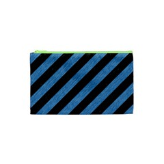 Stripes3 Black Marble & Blue Colored Pencil Cosmetic Bag (xs) by trendistuff