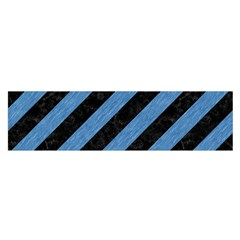 Stripes3 Black Marble & Blue Colored Pencil Satin Scarf (oblong) by trendistuff