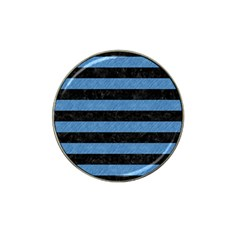 Stripes2 Black Marble & Blue Colored Pencil Hat Clip Ball Marker (10 Pack) by trendistuff