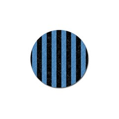Stripes1 Black Marble & Blue Colored Pencil Golf Ball Marker (10 Pack) by trendistuff