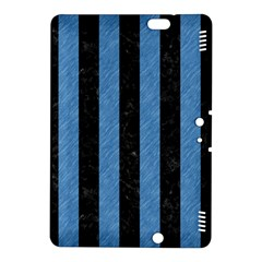 Stripes1 Black Marble & Blue Colored Pencil Kindle Fire Hdx 8 9  Hardshell Case by trendistuff