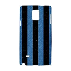 Stripes1 Black Marble & Blue Colored Pencil Samsung Galaxy Note 4 Hardshell Case by trendistuff