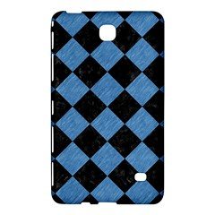 Square2 Black Marble & Blue Colored Pencil Samsung Galaxy Tab 4 (8 ) Hardshell Case  by trendistuff