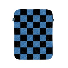 Square1 Black Marble & Blue Colored Pencil Apple Ipad 2/3/4 Protective Soft Case by trendistuff