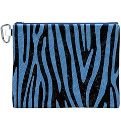 Skin4 Black Marble & Blue Colored Pencil (r) Canvas Cosmetic Bag (xxxl) by trendistuff