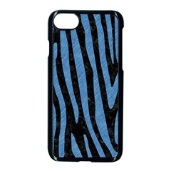 Skin4 Black Marble & Blue Colored Pencil (r) Apple Iphone 7 Seamless Case (black) by trendistuff