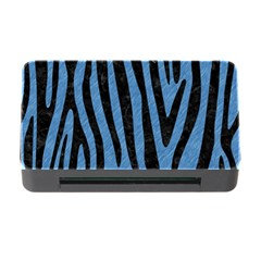 Skin4 Black Marble & Blue Colored Pencil Memory Card Reader With Cf by trendistuff