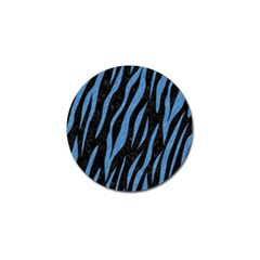 Skin3 Black Marble & Blue Colored Pencil Golf Ball Marker (10 Pack) by trendistuff