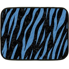 Skin3 Black Marble & Blue Colored Pencil Double Sided Fleece Blanket (mini) by trendistuff