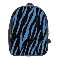 Skin3 Black Marble & Blue Colored Pencil School Bag (large) by trendistuff