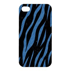 Skin3 Black Marble & Blue Colored Pencil Apple Iphone 4/4s Hardshell Case by trendistuff