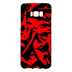 Red Black Retro Pattern Samsung Galaxy S8 Plus Hardshell Case  by Costasonlineshop