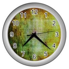 Grunge Texture               Wall Clock (silver) by LalyLauraFLM