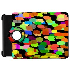 Colorful Paint On A Black Background           Apple Ipad Mini Flip 360 Case by LalyLauraFLM