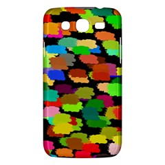 Colorful paint on a black background           Samsung Galaxy Duos I8262 Hardshell Case by LalyLauraFLM