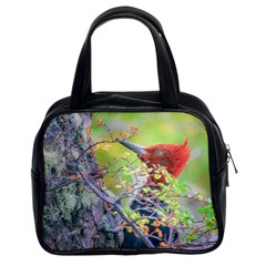 Woodpecker At Forest Pecking Tree, Patagonia, Argentina Classic Handbags (2 Sides) by dflcprints