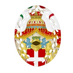 Coat Of Arms Of The Kingdom Of Italy Ornament (oval Filigree) by abbeyz71