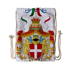 Coat Of Arms Of The Kingdom Of Italy Drawstring Bag (small) by abbeyz71