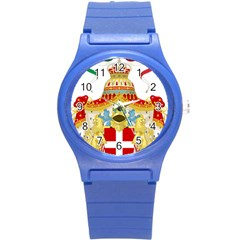 Coat Of Arms Of The Kingdom Of Italy Round Plastic Sport Watch (s) by abbeyz71