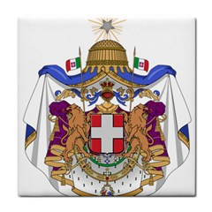 Greater Coat Of Arms Of Italy, 1870 1890  Tile Coasters by abbeyz71