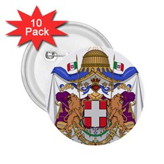 Greater Coat Of Arms Of Italy, 1870 1890  2 25  Buttons (10 Pack)  by abbeyz71