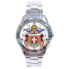 Greater Coat Of Arms Of Italy, 1870 1890  Stainless Steel Analogue Watch by abbeyz71