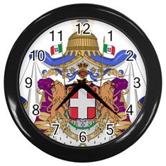 Greater Coat Of Arms Of Italy, 1870 1890 Wall Clocks (black) by abbeyz71